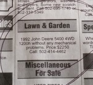 It Was Just A John Deere Tractor But It Was A Scam